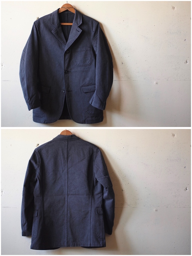 WORKERS Lounge JKT 10oz Cotton Serge Grey-4