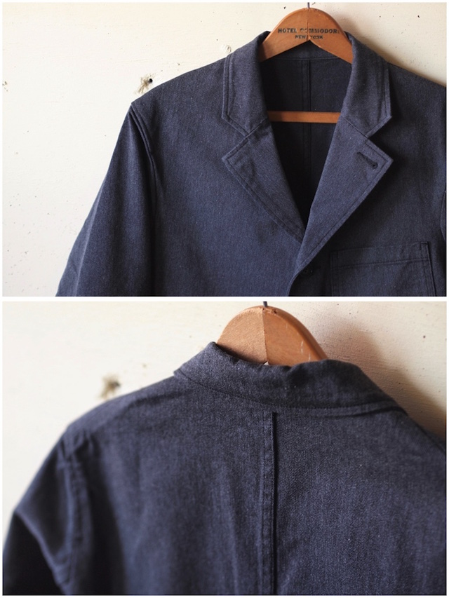 WORKERS Lounge JKT 10oz Cotton Serge Grey-5