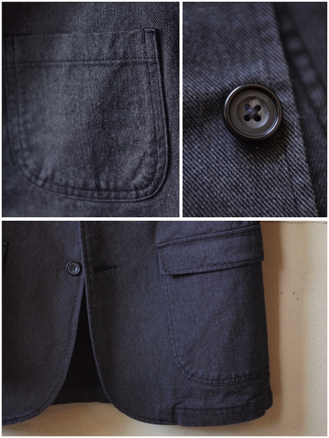 WORKERS Lounge JKT 10oz Cotton Serge Grey-6