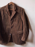 WORKERS Lounge JKT Heavy Corduroy Brown-Link
