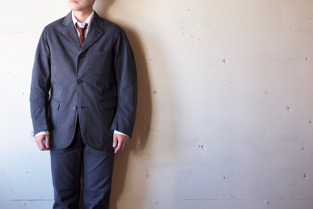 WORKERS Lounge JKT Cotton Serge Grey-2