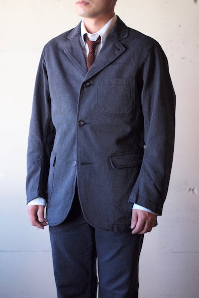 WORKERS Lounge JKT Cotton Serge Grey-3