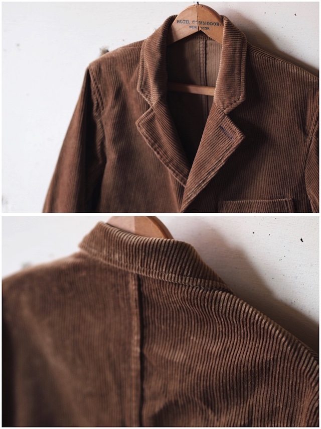 WORKERS Lounge JKT 太畝 Heavy Corduroy Brown-5