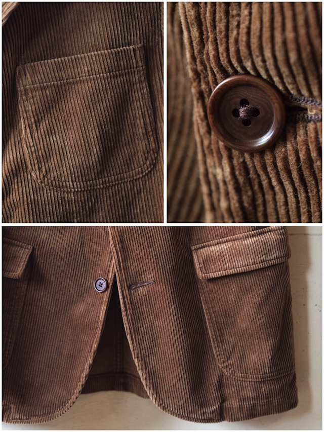 WORKERS Lounge JKT 太畝 Heavy Corduroy Brown-6