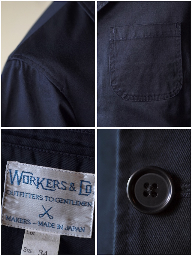 WORKERS Lounge JKT Navy Chino-7