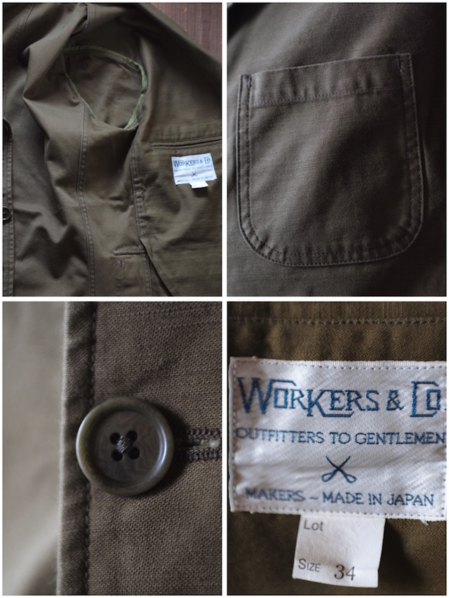 WORKERS Lounge JKT Reversed Sateen OD-7