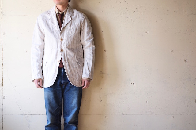 WORKERS Lt. Creole JKT Cotton×Linen Stripe-2