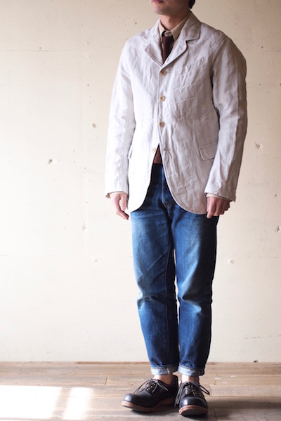 WORKERS Lt. Creole JKT Cotton×Linen Stripe-3