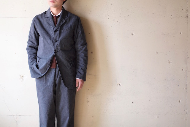 WORKERS Lt. Creole JKT 5oz Black Chambray-2