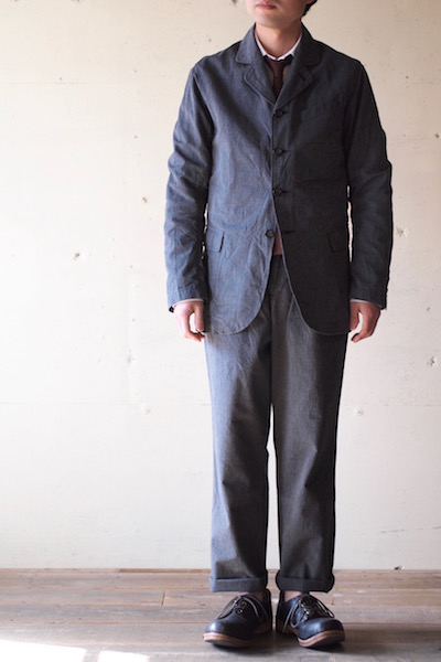 WORKERS Lt. Creole JKT 5oz Black Chambray-3