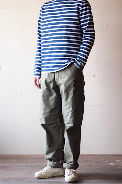 WORKERS M-65 Trousers Mod. Reversed Sateen OD-3