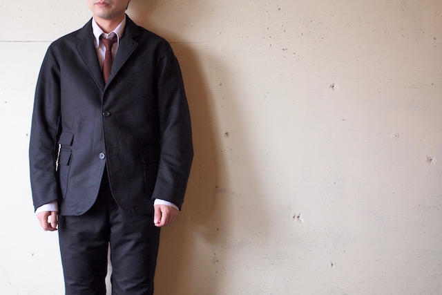 WORKERS Maple Leaf JKT Double Cloth Black-2