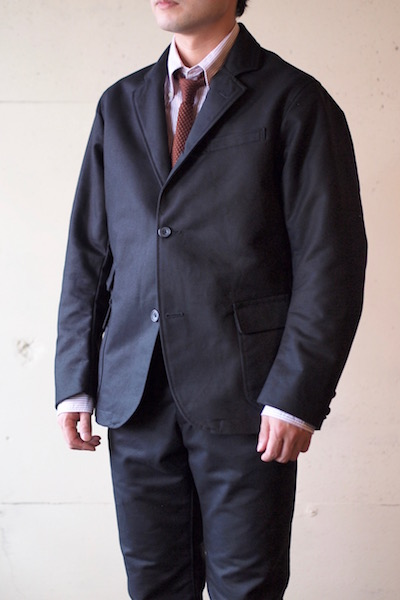 WORKERS Maple Leaf JKT Double Cloth Black-3