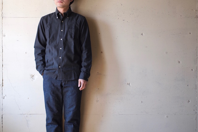 WORKERS Modified BD Shirt Brushed Twill C. Grey-2