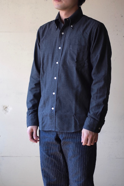 WORKERS Modified BD Shirt Brushed Twill C. Grey-3