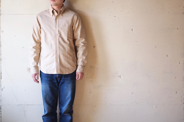 WORKERS Modified BD Shirt Garment Dye Beige-2