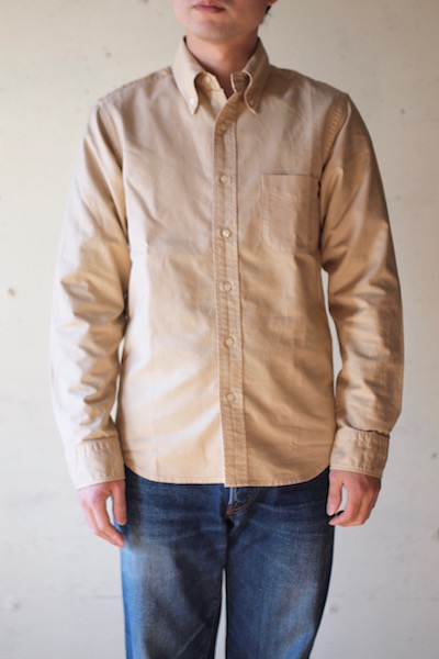 WORKERS Modified BD Shirt Garment Dye Beige-3