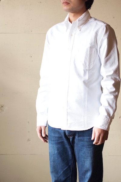 WORKERS Modified BD Shirt Supima Cotton White OX-3