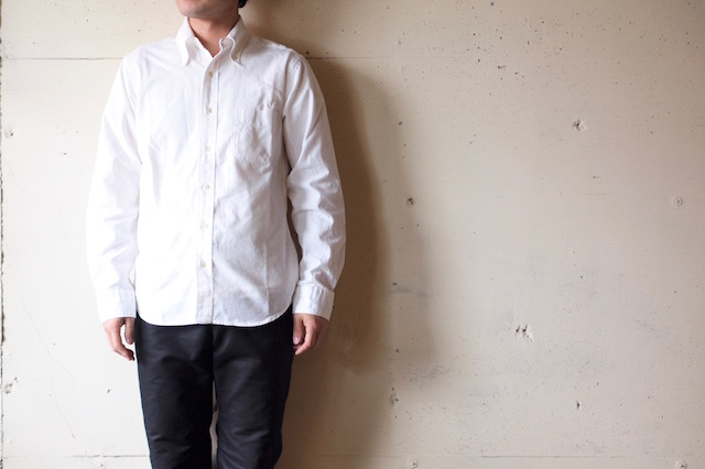 WORKERS Modified BD Shirt 5oz White Chambray-2