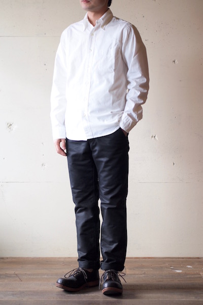 WORKERS Modified BD Shirt 5oz White Chambray-3