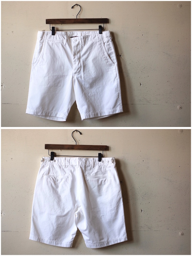 WORKERS Officer Shorts White Chino-4