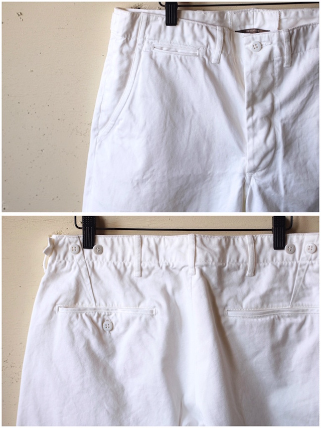 WORKERS Officer Shorts White Chino-5