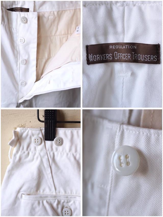 WORKERS Officer Shorts White Chino-6