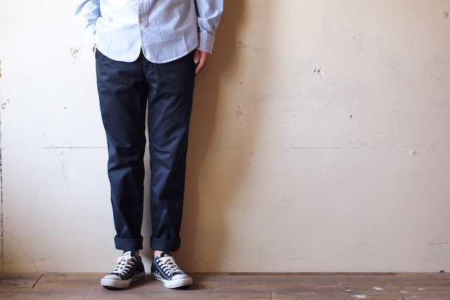 Workers Officer Trousers Slim Type-2 Navy Chino-2
