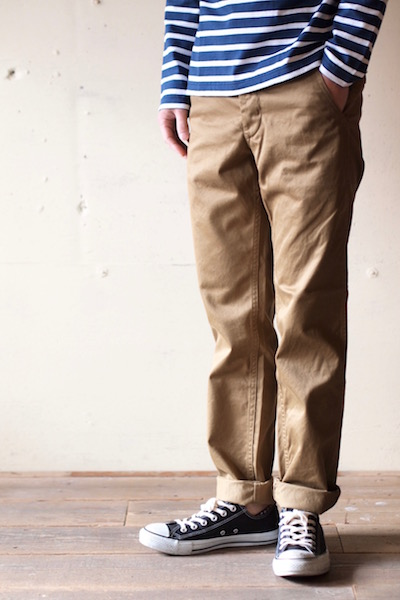 Workers Officer Trousers Slim Type-2 USMC Khaki Button-3