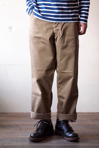 Workers Officer Trousers Vintage Fit Type2 USMC Khaki-3