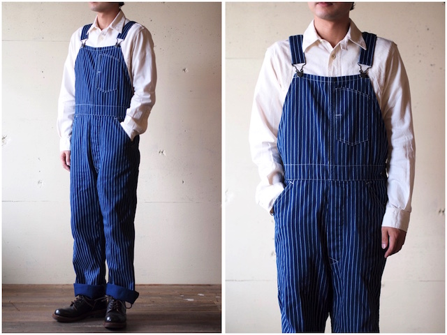 WORKERS Overall Indigo Double Dot-2