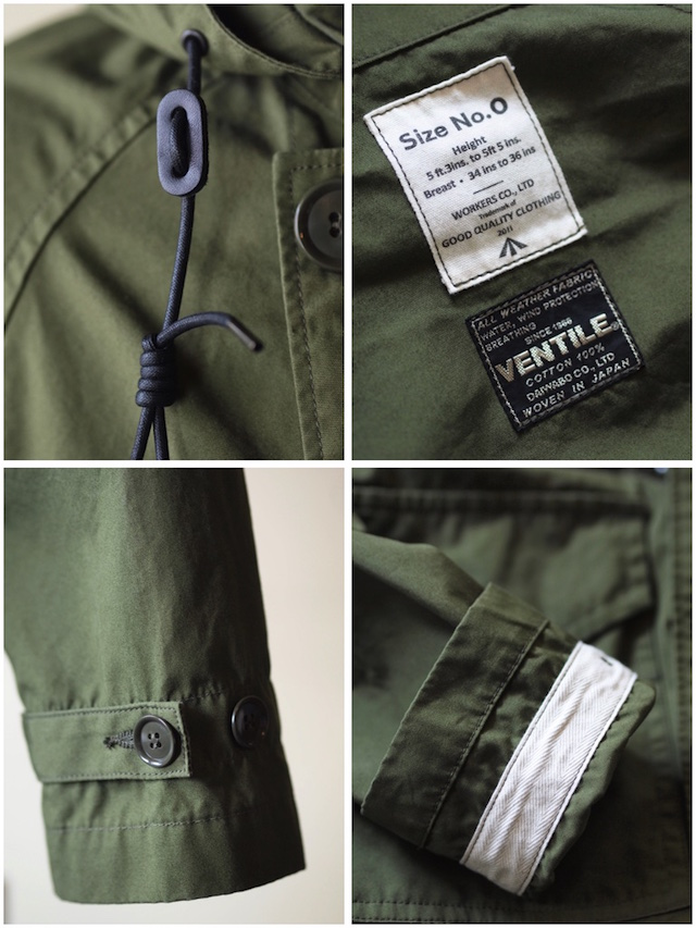 WORKERS RAF PARKA Ventile Cotton OD-7