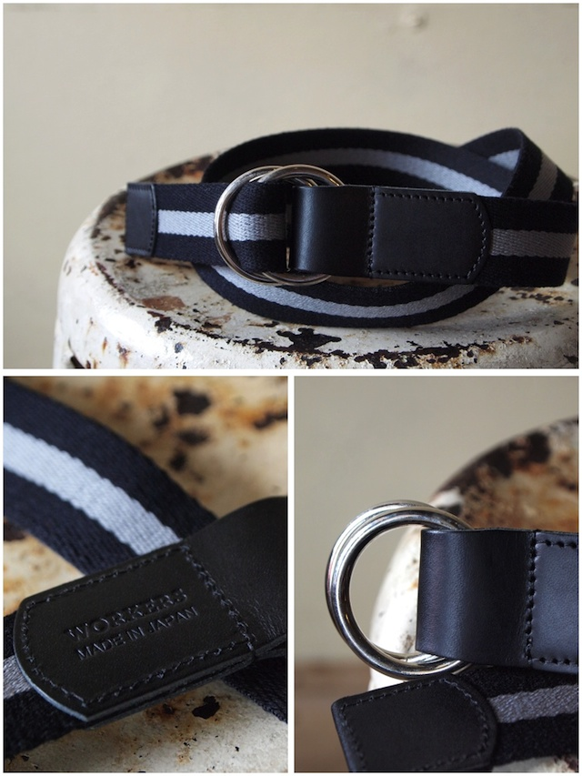 WORKERS Ring Belt, Black-Gray