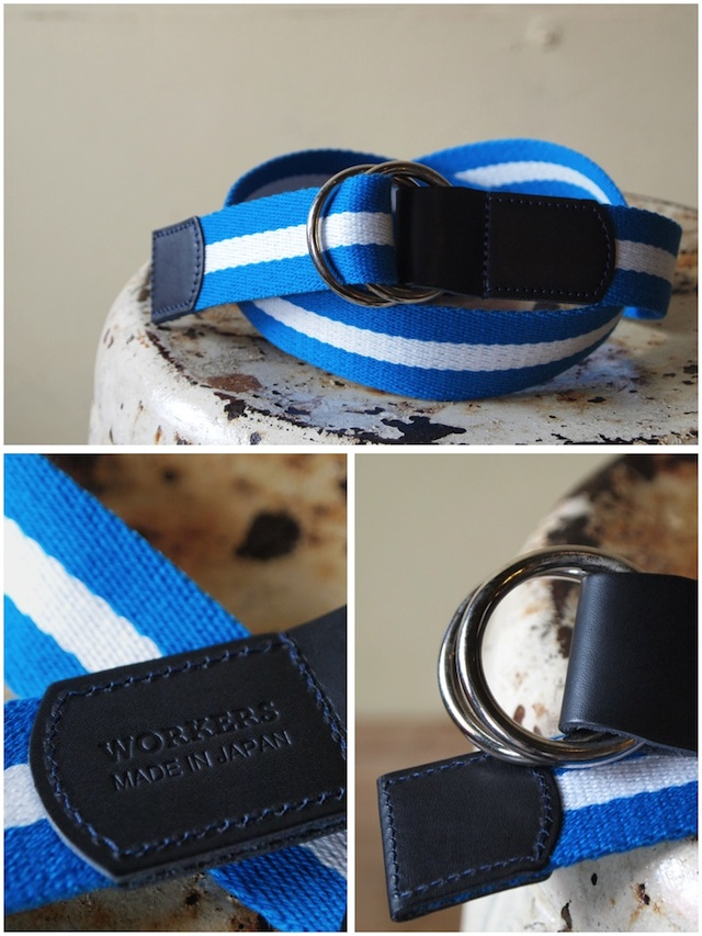 WORKERS Ring Belt, Blue-White