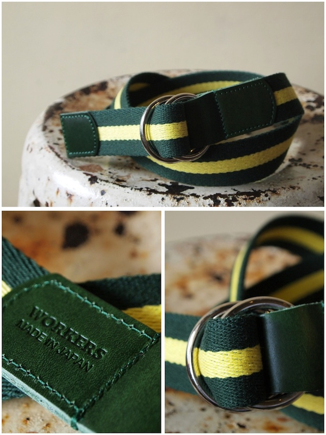 WORKERS Ring Belt, Green-Yellow