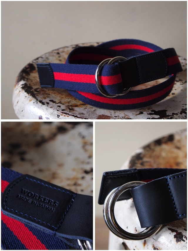 WORKERS Ring Belt, Red-Navy