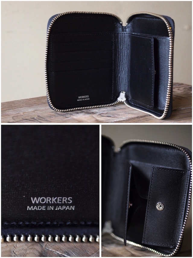 WORKERS Round Zip Medium Wallet Noblessa Calf-5