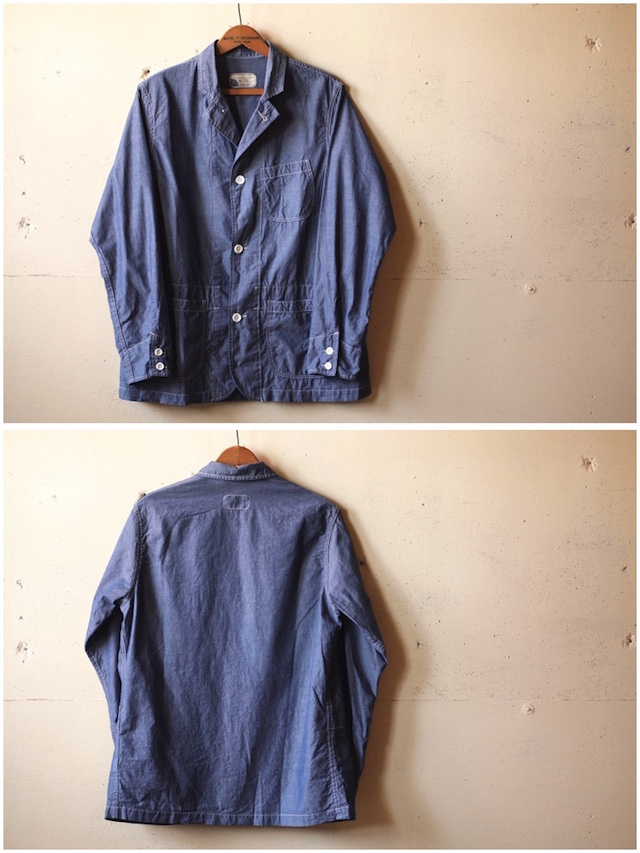 WORKERS Sack Coat Lt. Chambray Blue-4