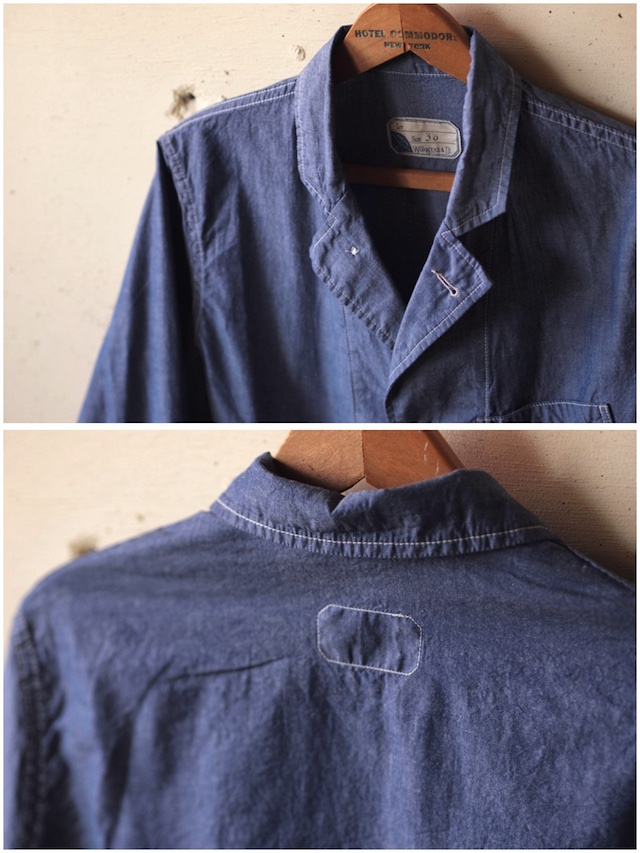 WORKERS Sack Coat Lt. Chambray Blue-5
