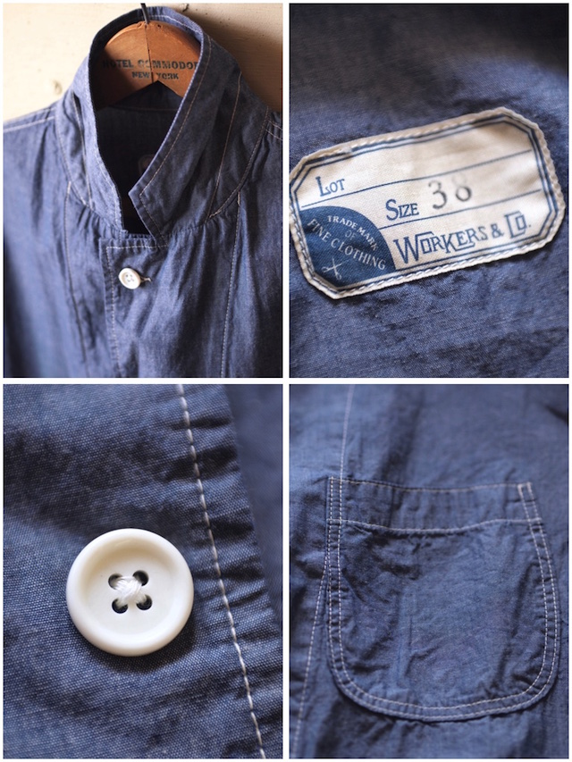 WORKERS Sack Coat Lt. Chambray Blue-7