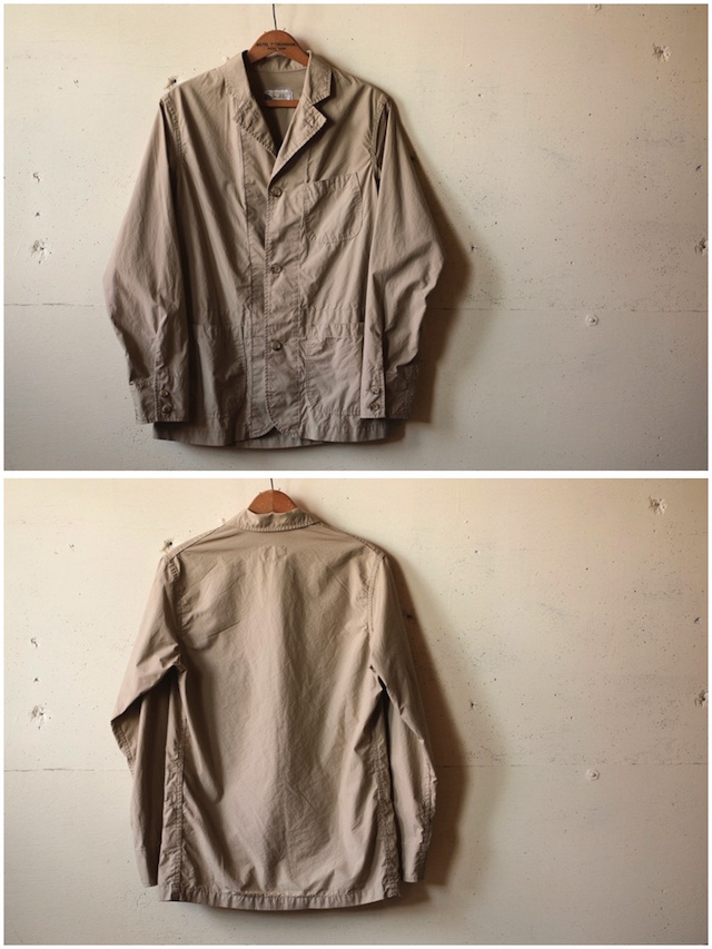 WORKERS Sack Coat Supima Cotton Poplin Beige-4