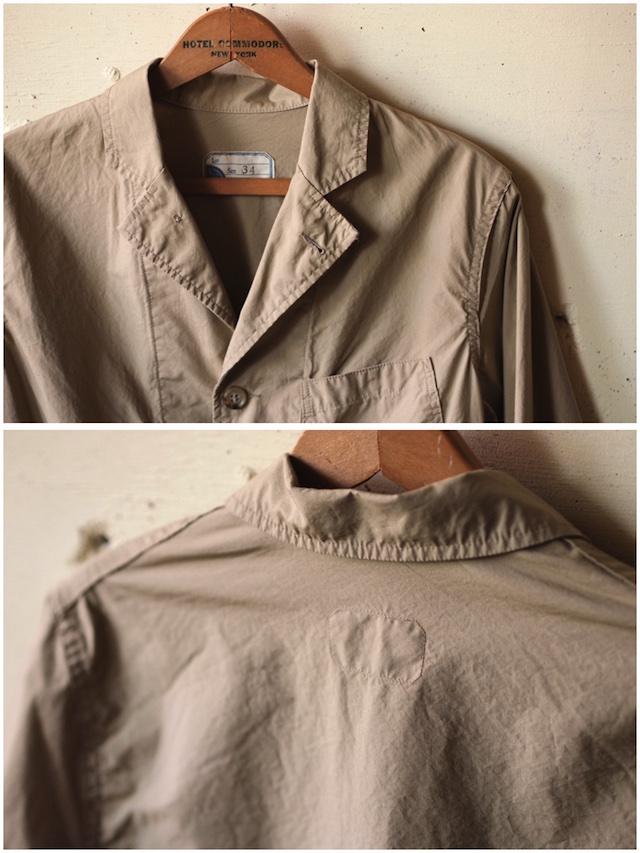 WORKERS Sack Coat Supima Cotton Poplin Beige-5