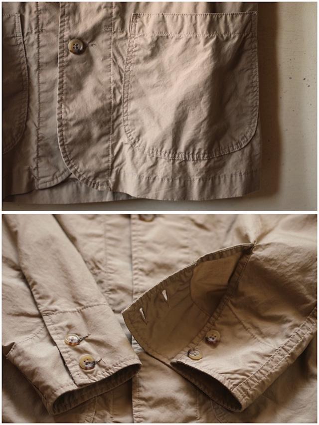 WORKERS Sack Coat Supima Cotton Poplin Beige-6