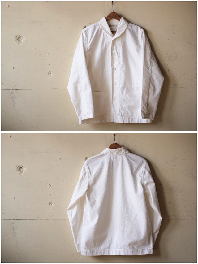 WORKERS Shawl Collar JKT 8oz Chambray White-4