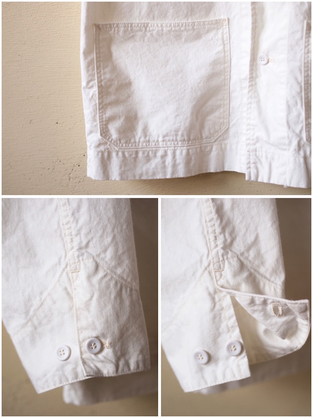 WORKERS Shawl Collar JKT 8oz Chambray White-6