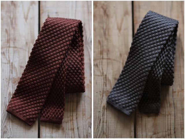 WORKERS Silk Knit Tie, 2015 F/W-3