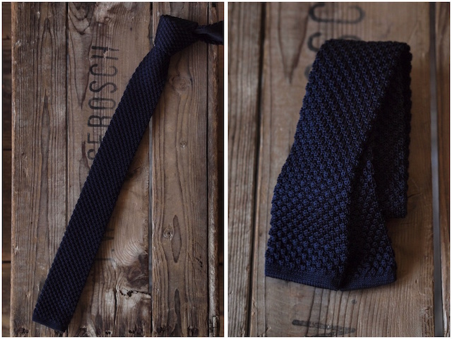 WORKERS Silk Knit Tie Gold/Forest/Midnight-4