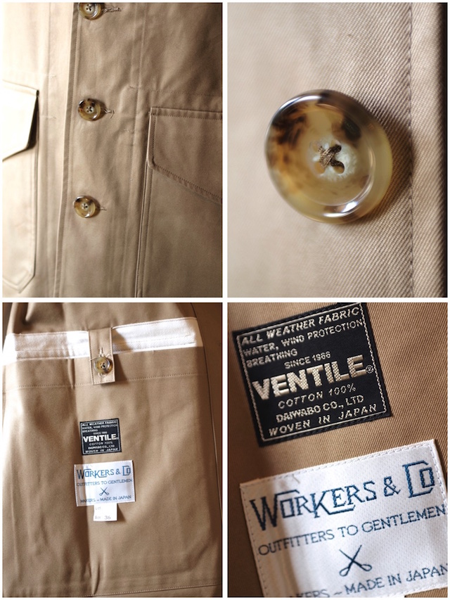 WORKERS Single T-Coat Heavy Ventile Beige-6
