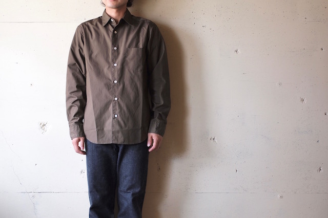 WORKERS Standard Shirt Broadcloth Brown-2