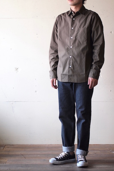 WORKERS Standard Shirt Broadcloth Brown-3